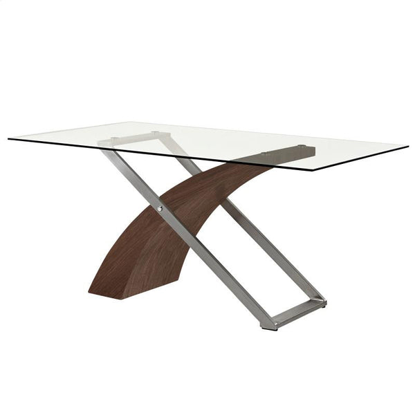 Modern Glass Top Dining Table - Veneta
