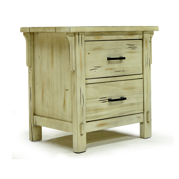 Rustic Antique Finish Solid Poplar Wood Night Stand