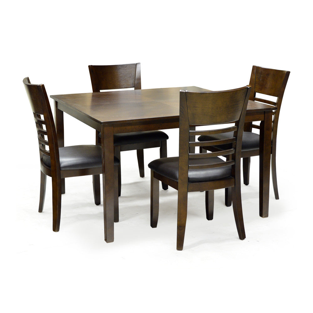 5 Piece Rich Cherry Dining Table Set - 3283  sc 1 st  Ideal Home Furnishings & Edmonton Furniture Store | Cherry Dining Table w/ 4 chairs u2013 Ideal ...