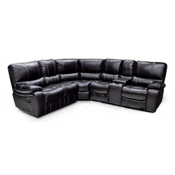 Top Grain Leather Match Sectional Sofa- 9540