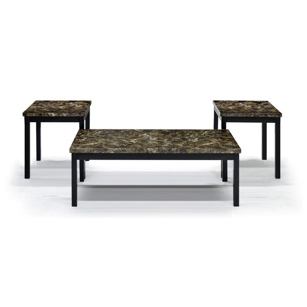Marble Looking Coffee Table Set -2601