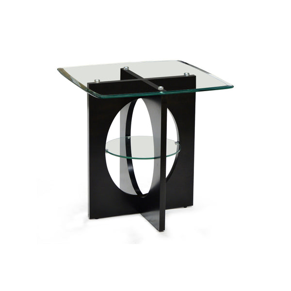 Glass Top End Table - Matrix