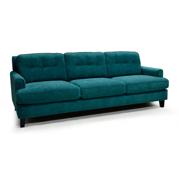 Canadian Made Old-Fashioned Velvet Sofa- Barbara