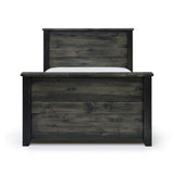 Edmonton Furniture Store | Solid Pine Canadian Made King Bed in Ebony Finish - Rough Sawn