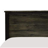 Solid Wood Canadian Made Queen Bed - Rough Sawn