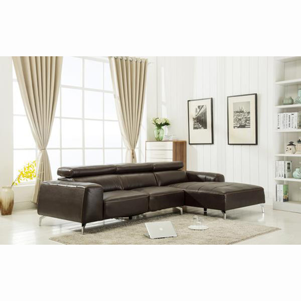 Contemporary Leather Gel Sectional - 7156