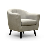 Fabric Button Tufted Accent Chair - S9995