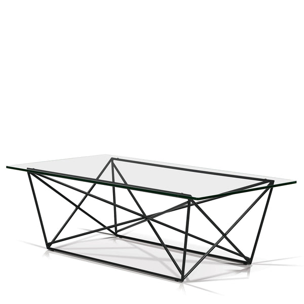 Diamond Glass Top Coffee Table - SEF11530