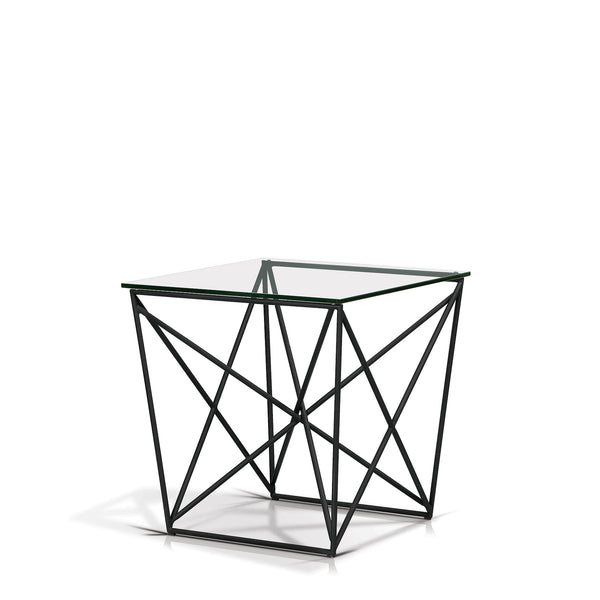 Diamond Glass Top End Table - SEF11531