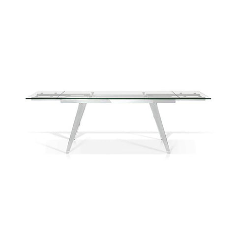 Glass Top Dining Table with 2 Side Leaves - SEF2048