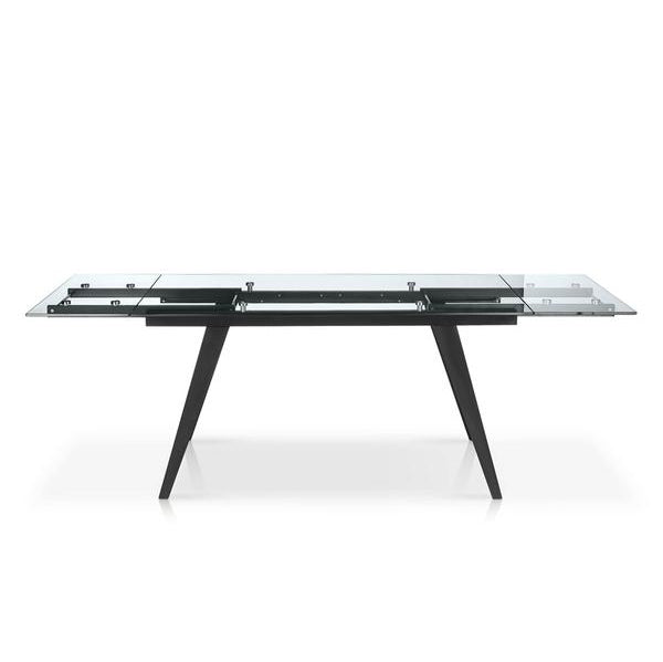 Glass Top Dining Table with 2 Side Leaves - SEF2050 Sharp