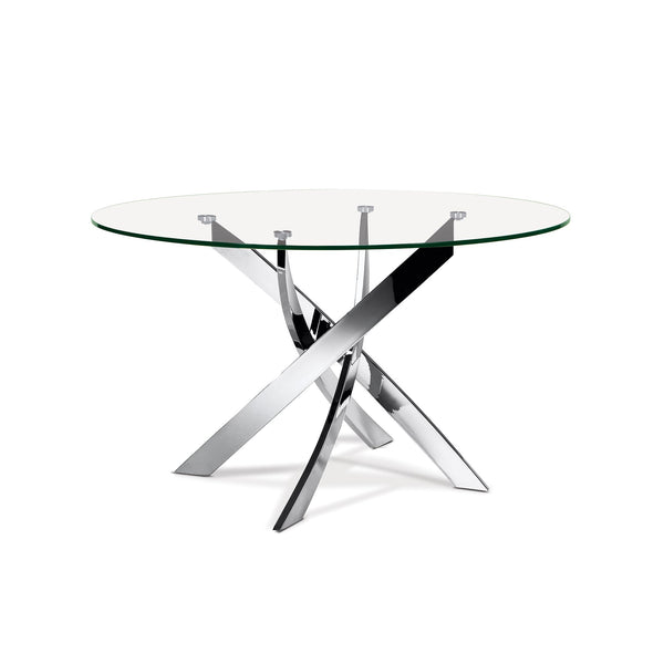 Ellis Round Glass Top Dining Table - SEF2133AA