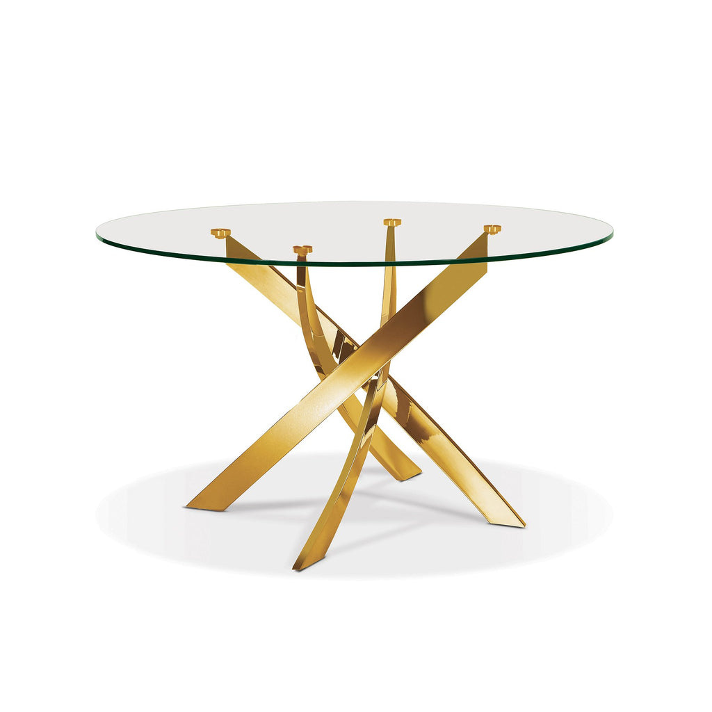 Ellis Round Glass Top Dining Table - SEF2133G