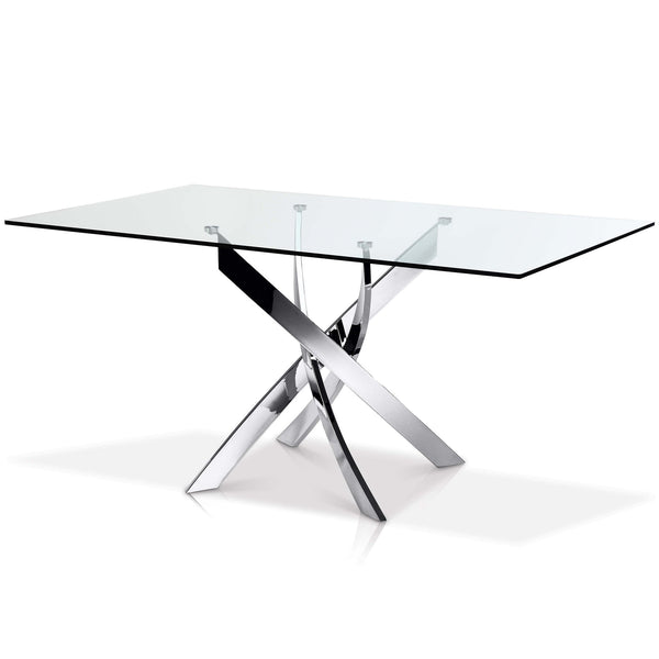 Ellis Rectangular Glass Top Dining Table - SEF2133R