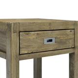 Reclaimed and Recylced Wood Accent Table - Post & Rail