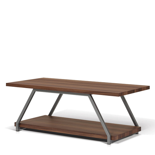 Rectangular Walnut Top Coffee Table - Shiba