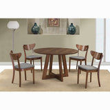 Edmonton Furniture Store | Middle Century Modern Round Walnut-Top Dining Table in Walnut - Sonos
