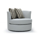 Custom Round Swivel Accent Chair - 373
