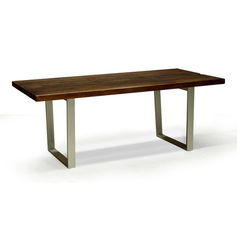 Live Edge Solid Acacia Dining Table - Verde