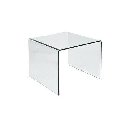 Clear Glass End Table