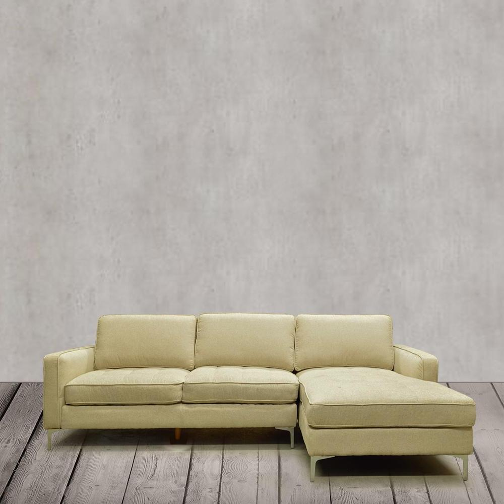 RHF Tufted Fabric Sectional Sofa- S7298