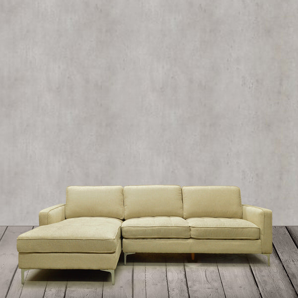 Tufted Fabric Sectional Sofa- S7298