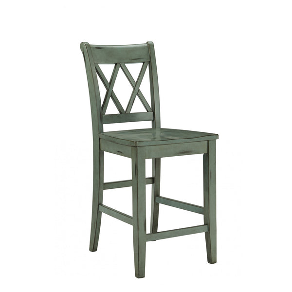 "24"" Green Bar Stool"