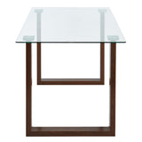 Edmonton Furniture Store | Rectangular Dining Table Set in Walnut Base - Franco/Cora
