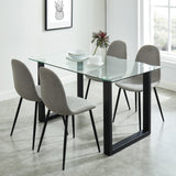 Edmonton Furniture Store | Rectangular Dining Table in Black Base - Franco