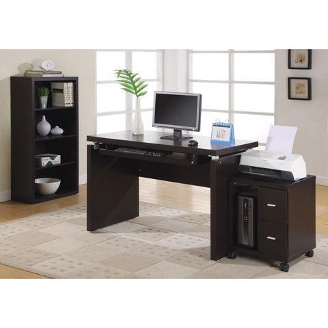 Contemporary Functional Computer Desk with Keyboard Tray- I 7003