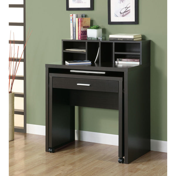 Contemporary Space Saver Computer Desk with Drawer- I 7020