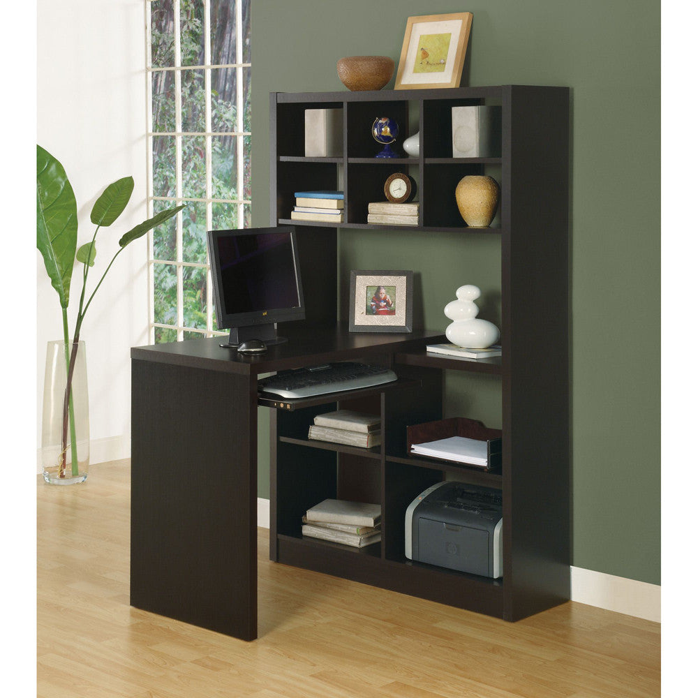 Contemporary Computer Desk and Shelf Unit- I 7021