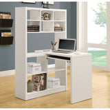 Contemporary Computer Desk and Shelf Unit- I 7022