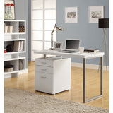 Contemporary Desk Top with 3 Drawers