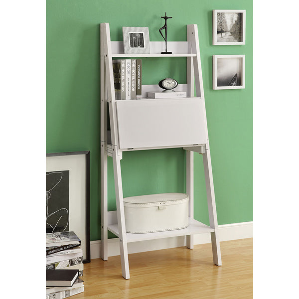 Condo Size Ladder Style Computer Desk with Shelves