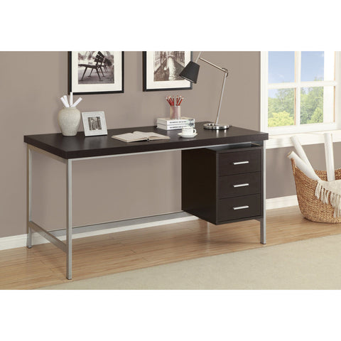 Contemporary Computer Desk with 3 Drawers- I 7045, 7046, 7245, 7345