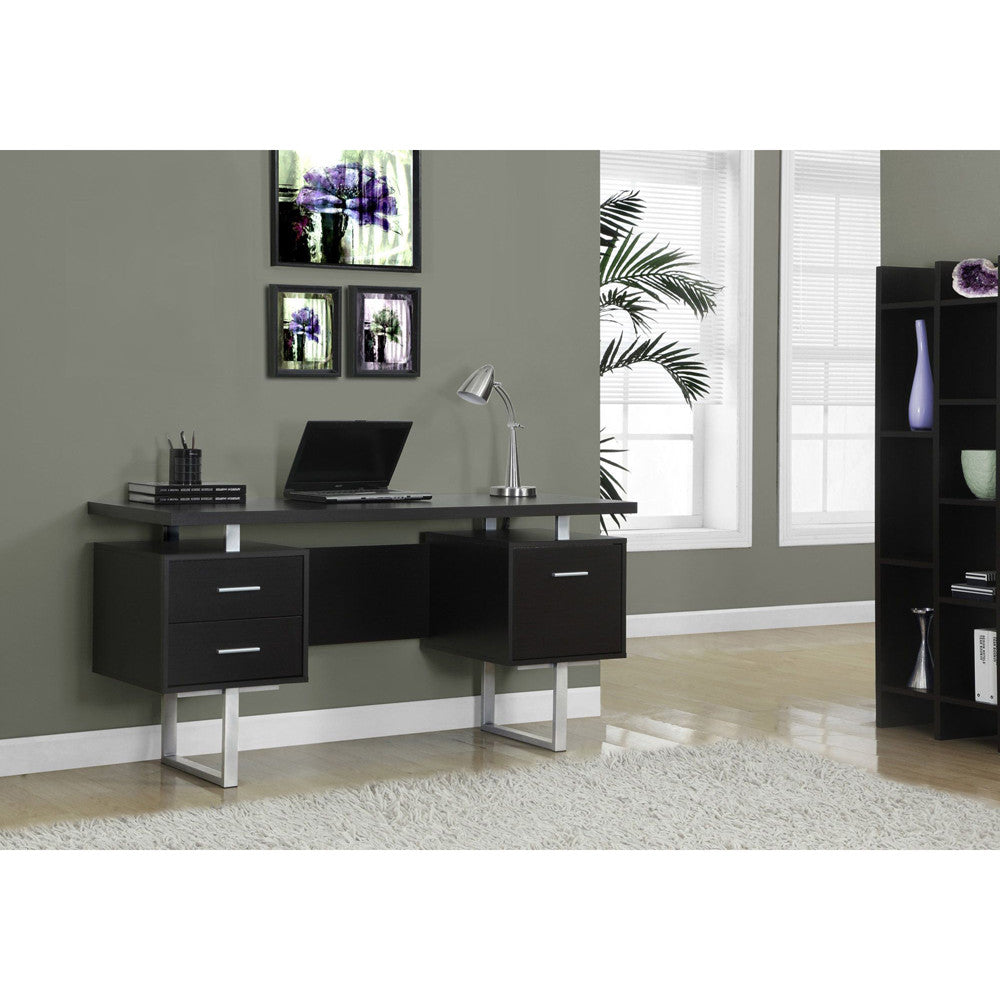 Contemporary Functional Computer Desk with Storage- I 7080