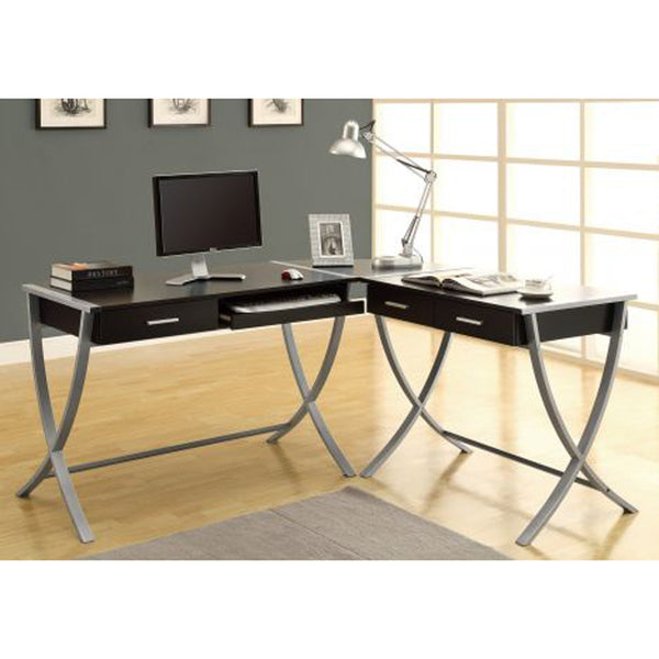 Contemporary L Shaped Metal Legs Computer Desk