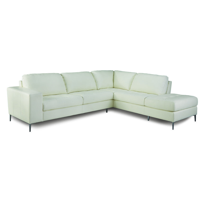 Palliser Custom White Sectional - Mica