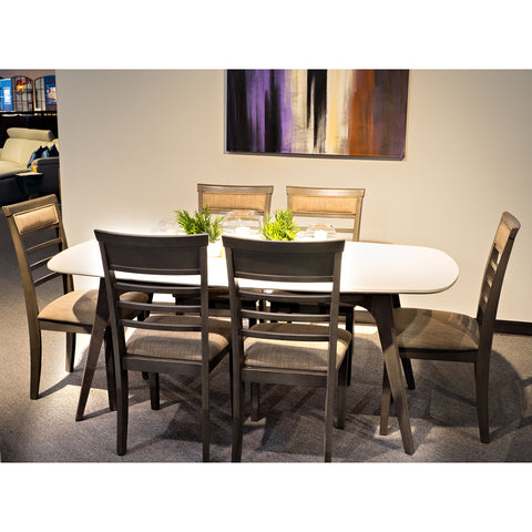 Edmonton Furniture Store | Palliser White Wood Top Modern Dining Table Set - Oblong