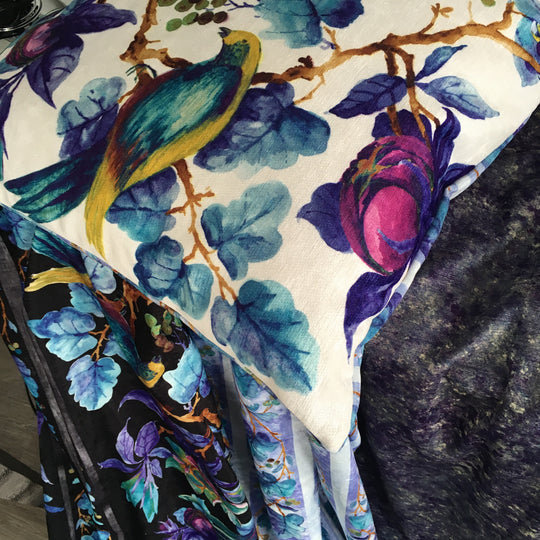 Victoria & Albert's amazing designs on fabric and cushions
