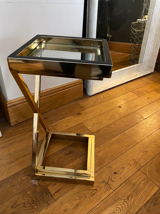 Bowdon Gold Cross Side Table