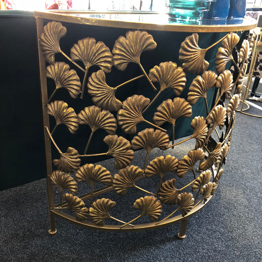 Goldie Gingko Leaf Console Table