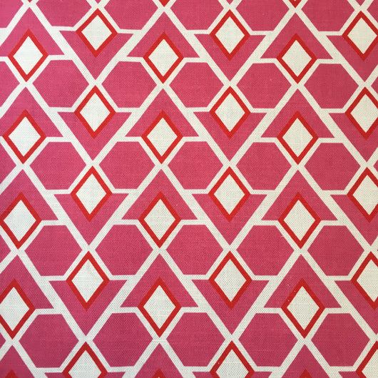 Diamonds Are Forever Candy Pink Linen Fabric