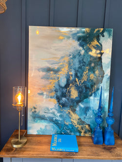 Moody Blue Art Canvas