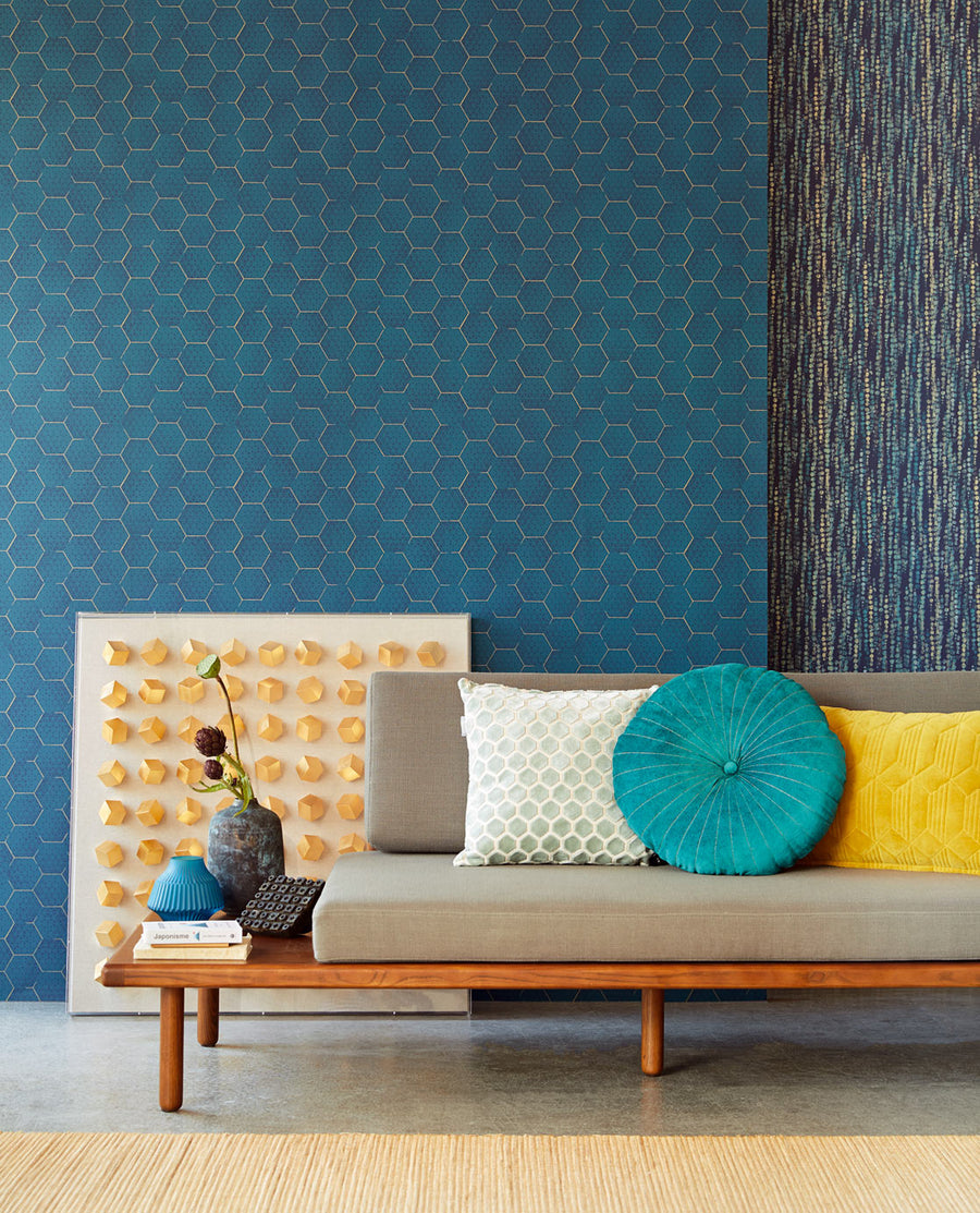 Teal Dix Luxury Wallpaper