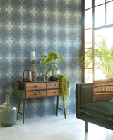 Boho Teal Luxury Wallpaper