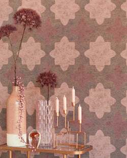 Coral Boho Luxury Wallpaper