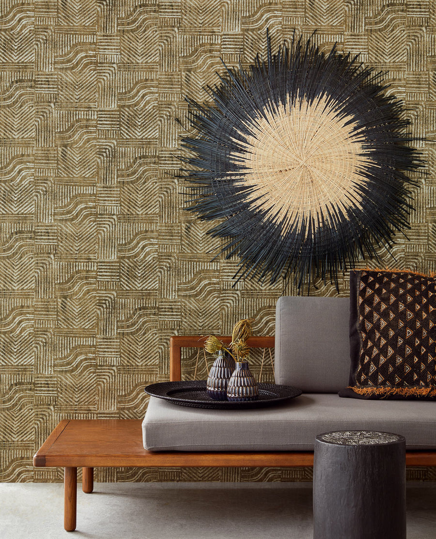 Tuli Burnt Warm Earth Print Wallpaper
