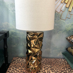 Astrid Gold Facet Lamp